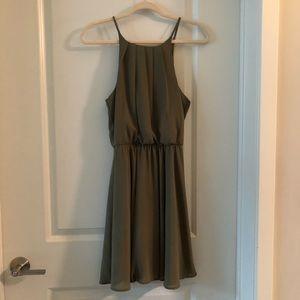 Francesca's olive green dress medium